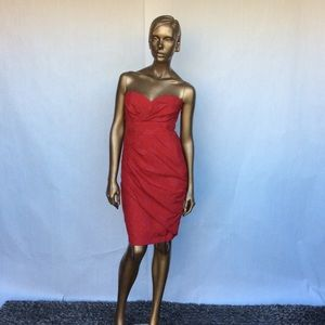 Tracy Reese red strapless dress